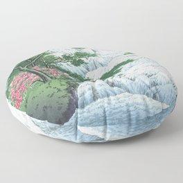 Kawase Hasui, Yudaki Waterfall In Nikko - Vintage Japanese Woodblock Print Art Floor Pillow