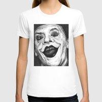 jack nicholson T-shirts featuring Jack Nicholson Joker Stippling Portrait by Joanna Albright