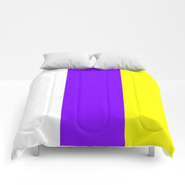flag of canary islands 2b -canaries,canary,atlantic,canarias,Canarian,canario,canaria,spain,spanish, Comforters