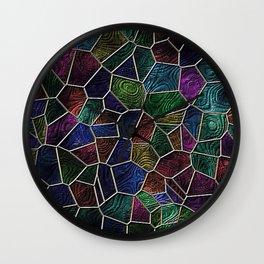 Mosaic LORA,multicolor Wall Clock