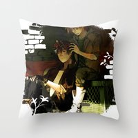 truck Throw Pillows featuring Pickup Truck by Velocesmells