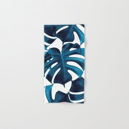 Tropical Monstera Leaves Dream #8 #tropical #decor #art #society6 Hand & Bath Towel