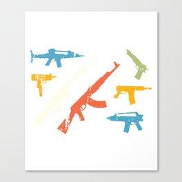 Automatic Rifles Canvas Print
