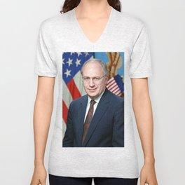 Official portrait of Secretary of Defense Richard B. Cheney Unisex V-Neck