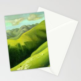 Mustering at the End of the Farm Stationery Cards