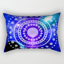 Electric blue universe Rectangular Pillow
