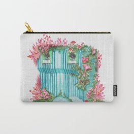Growth on Glass Container | Surrealistic Aquarelle by Stephanie Kilgast Carry-All Pouch
