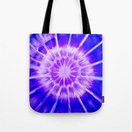 Radial Cymaglyph Indigo Tote Bag