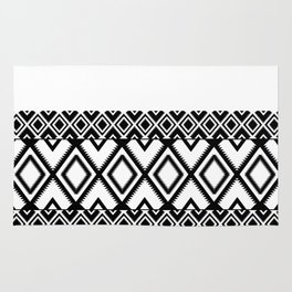 Lozenges Geometric Black Pattern Rug