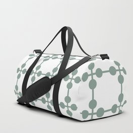 Droplets Pattern - Sage Green & White Duffle Bag