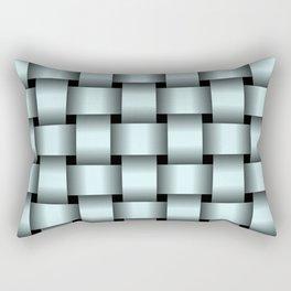Large Light Cyan Weave Rectangular Pillow
