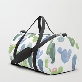 watercolor cacti plants pattern Duffle Bag