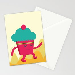 Dancing Cupcake Stationery Cards