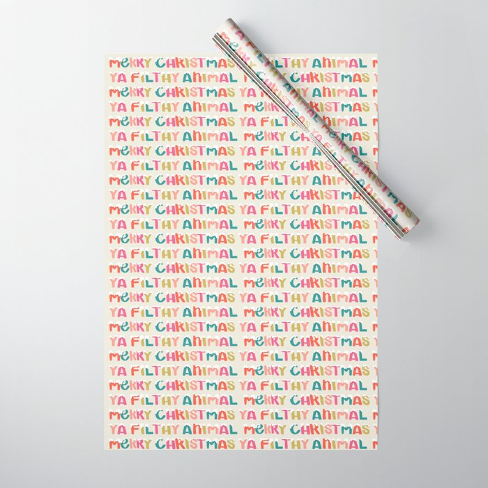 Merry Christmas Ya Filthy Animal Gift Wrap Wrapping Paper