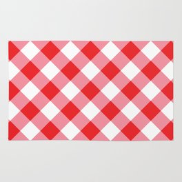 Gingham - Red Rug