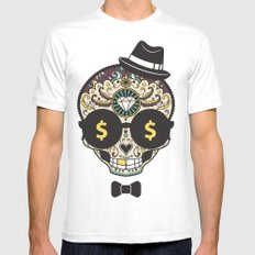 Money mind White Mens Fitted Tee MEDIUM