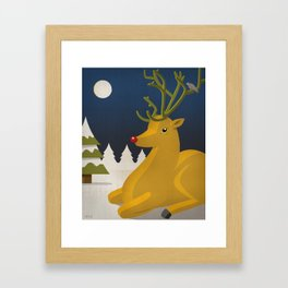 Reindeer's Strike Framed Art Print