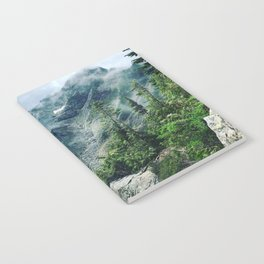 Mountain through the clouds Notebook