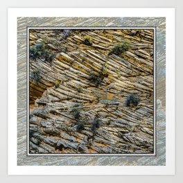 LAYERS OF TIME IN ANCIENT SANDSTONE Art Print