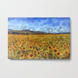 Vincent Van Gogh Sunflowers Metal Print