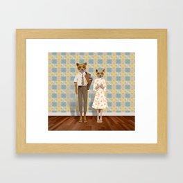 Mr. & Mrs. Fox Framed Art Print