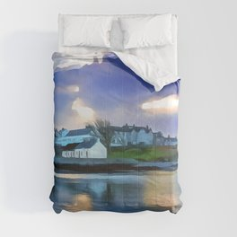Cockle Row Cottages, Ireland. (Painting) Comforters