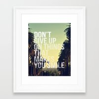 quotes Framed Art Prints featuring QUOTES by magdam