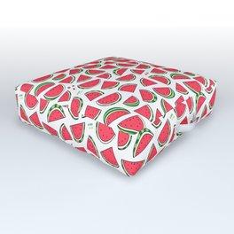 Watermelon World! Kawaii Watermelon Doodle Outdoor Floor Cushion