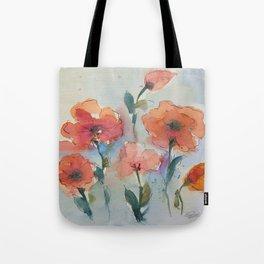Flowers in watercolor Tote Bag