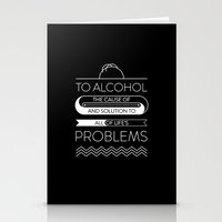 alcohol Stationery Cards featuring To alcohol! by Sama