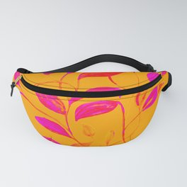Peaches and Cream Red Leaves Fanny Pack