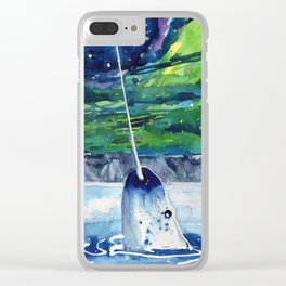 Narwhal Clear iPhone Case