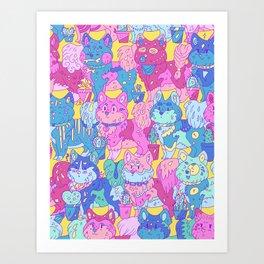 Doggy pattern Art Print