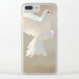 Dove Landing Clear iPhone Case