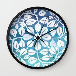 Blue Zellige Wall Clock