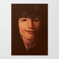 ezra koenig Canvas Prints featuring Ezra by bmworks