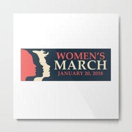 WOMEN'S MARCH 2018 LOGO Metal Print