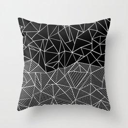 Ab Half and Half Black Throw Pillow
