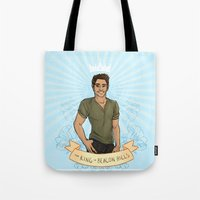 kendrawcandraw Tote Bags featuring The King of Beacon Hills by kendrawcandraw