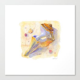 Old Shell Watercolor Canvas Print