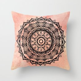 Desert Rose Mandala Throw Pillow
