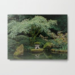 Serenity at a Japanese Garden Metal Print