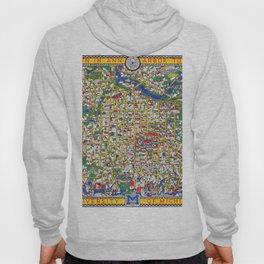 ANN ARBOR University map MICHIGAN dorm Hoody