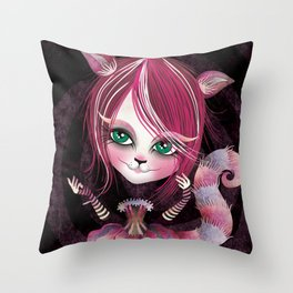 Cheshire Kitty Throw Pillow
