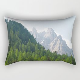 Forest Pines and Mountain Spikes Rectangular Pillow