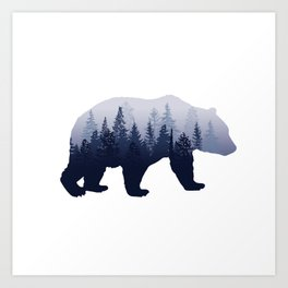 Bear in the Woods Art Print