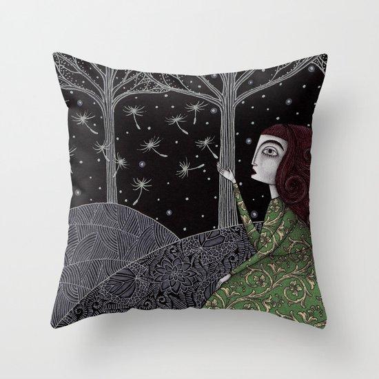 My Winter Stars Throw Pillow