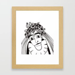 SAD MAN Framed Art Print