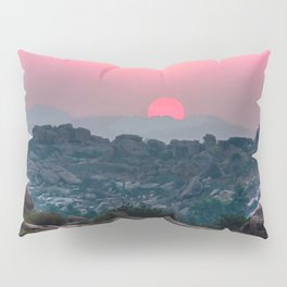 Otherworldly sunrise of Hampi, India Pillow Sham