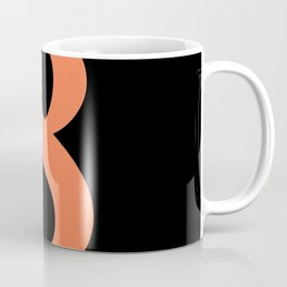 8 (CORAL & BLACK NUMBERS) Coffee Mug